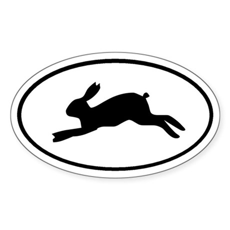 Rabbit Oval Sticker