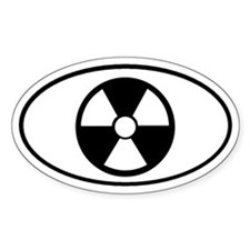 Atomic Symbol Oval Decal