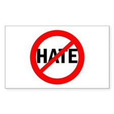 Say NO to Hate Rectangle Decal