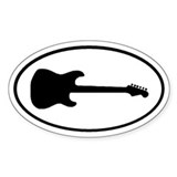 Guitar Shadow Oval Decal