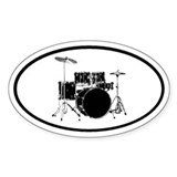 Drums Oval Decal