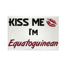 Kiss me I'm Equatoguinean Rectangle Magnet