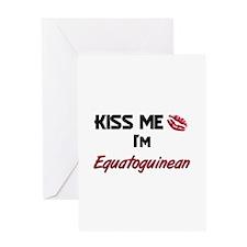 Kiss me I'm Equatoguinean Greeting Card