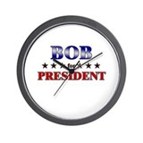 BOB for president Wall Clock