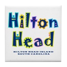 Hilton Head Type - Tile Coaster