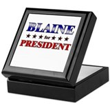 BLAINE for president Keepsake Box