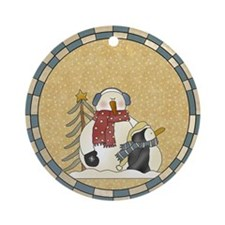 Sadie and Pete Ornament (Round)