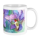 Hummingbird Mug Zoom View of art, Full Wrap