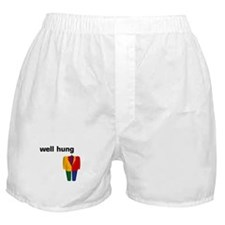 """well hung"" Boxer Shorts"