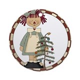 Annie and Tree Ornament (Round)