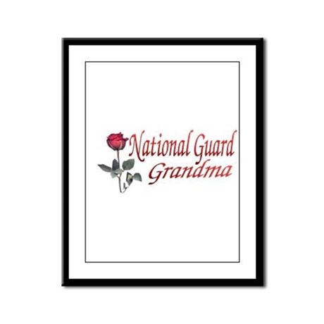 national guard grandma Framed Panel Print