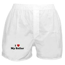 I Love My Sailor Boxer Shorts