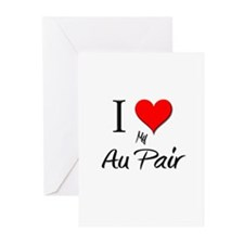 I Love My Au Pair Greeting Cards (Pk of 10)