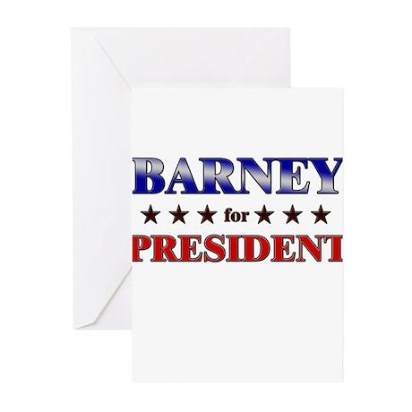 BARNEY for president Greeting Cards (Pk of 10)