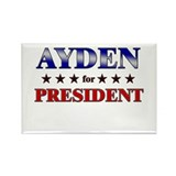 AYDEN for president Rectangle Magnet (10 pack)
