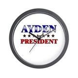AYDEN for president Wall Clock