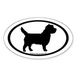 Cairn Terrier (inner border) Oval Sticker