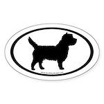 Cairn Terrier (inner border) Oval Sticker