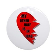 MY OTHER HALF IS IN IRAQ Keepsake (Round)