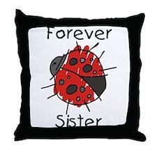 Forever Sister Throw Pillow