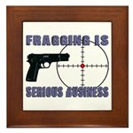 Serious Fragging Framed Tile