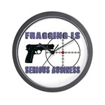 Serious Fragging Wall Clock