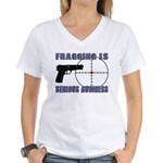 Serious Fragging Women's V-Neck T-Shirt