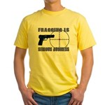 Serious Fragging Yellow T-Shirt