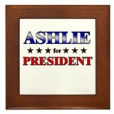 ASHLIE for president Framed Tile