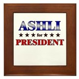 ASHLI for president Framed Tile