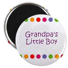 "Grandpa's Little Boy 2.25"" Magnet (10 pack)"