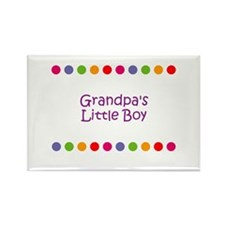 Grandpa's Little Boy Rectangle Magnet