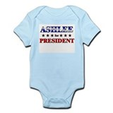 ASHLEE for president Onesie