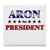 ARON for president Tile Coaster