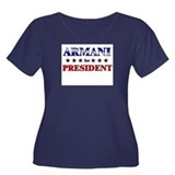ARMANI for president Women's Plus Size Scoop Neck