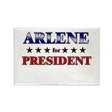ARLENE for president Rectangle Magnet