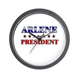 ARLENE for president Wall Clock