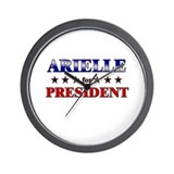 ARIELLE for president Wall Clock