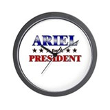 ARIEL for president Wall Clock
