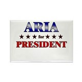 ARIA for president Rectangle Magnet