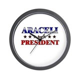 ARACELI for president Wall Clock