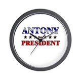 ANTONY for president Wall Clock