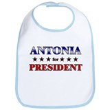 ANTONIA for president Bib