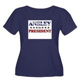 ANSLEY for president Women's Plus Size Scoop Neck