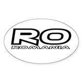 Romanian Car Oval Decal