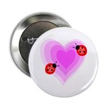 "Ladybug Love 2.25"" Button (100 pack)"