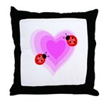 Ladybug Love Throw Pillow