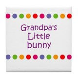 Grandpa's Little bunny Tile Coaster