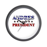 ANDRES for president Wall Clock