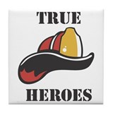 True Heroes - Firefighters Tile Coaster